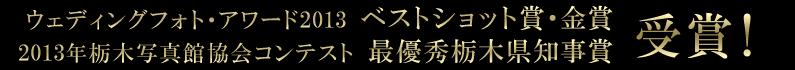 ウェディングフォトアワード・栃木写真館協会コンテスト 金賞